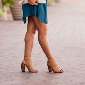 Lucky Brand Lisza Open Toe Booties 8.5